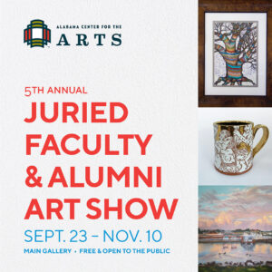 5th Annual Juried Faculty and Alumni Art Show Poster
